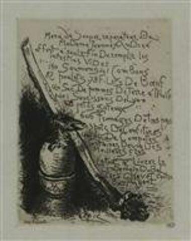 Illustration pour le Menu du Souper réparateur de Madame Jeanne André offert à sur le fin de remplir les intestins vides [...]