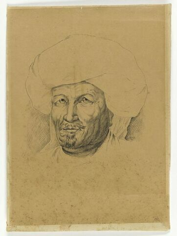 Tête d'oriental au turban