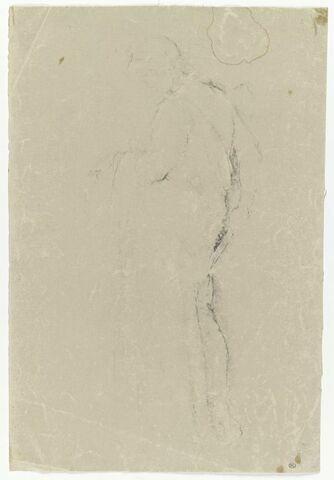 Figure drapéé, de profil à  gauche, d'après l'antique
