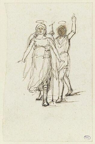 Etude pour Saint Jean-Baptiste avec l'ange