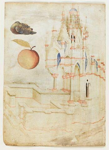 Architecture gothique, une pêche et un canard