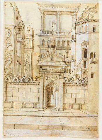 Ensemble architectural à l'antique