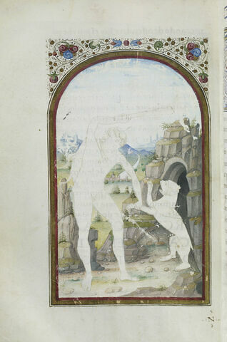 Hercule va dans l'antre de Cacus