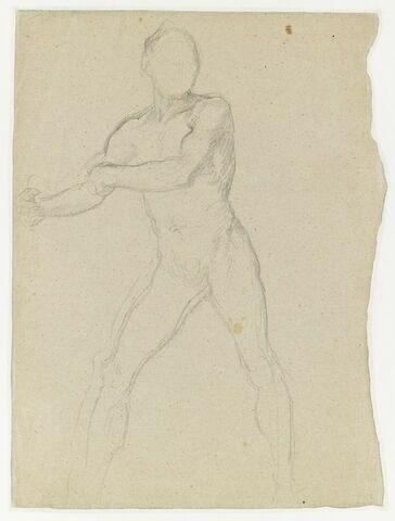 Etude d'homme nu, jambes écartées