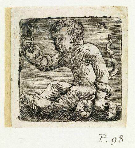 Hercule enfant étouffant les serpents