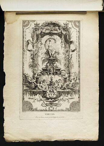 Panneau décoratif avec la figure de Thétis