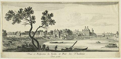 Vues de Paris : vue du jardin et du pont des Tuileries
