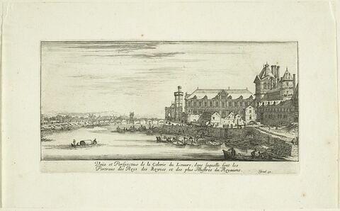 Vues de Paris : vue et perspective de la galerie du Palais du Louvre