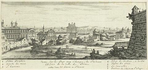 Vue du Palais Borghèse, de Santa Trinita dei Monti, de la Villa Médicis...
