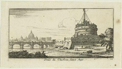 Vues d'Italie : Vue du Château Sant'Angelo