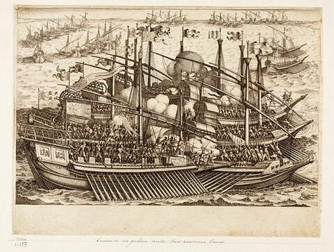 Principaux faits du règne de Ferdinand Ier, Grand Duc de Toscane : Combat de six galères contre trois vaisseaux Turcs