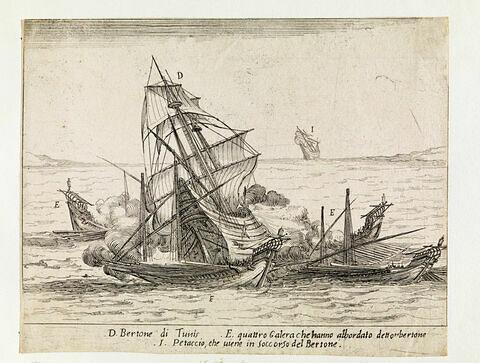 Combat des Quatre Galères du Grand Duc : L'abordage du Bertone