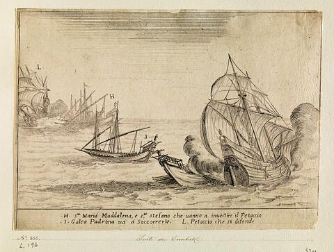 Combat des Quatre Galères du Grand Duc : L'abordage du Petaccio