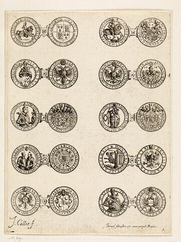 Monnaies. 5ème planche