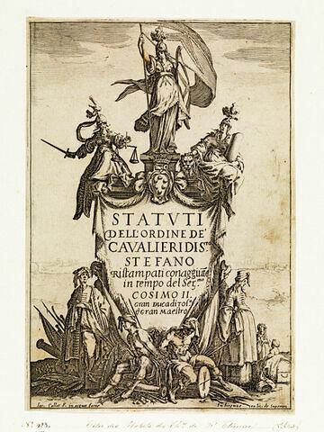 Frontispice des Statuts des Chevalliers de Saint Etienne