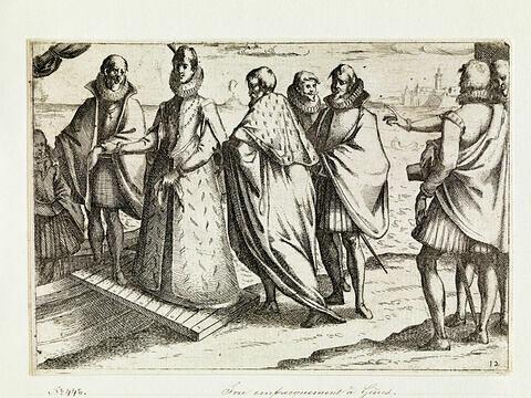Pompe funèbre de la Reine d'Espagne : Son embarquement à Gênes