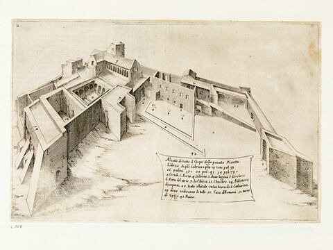 Figures du Voyage en Terre Sainte. Elévation de la Basilique de la Nativité