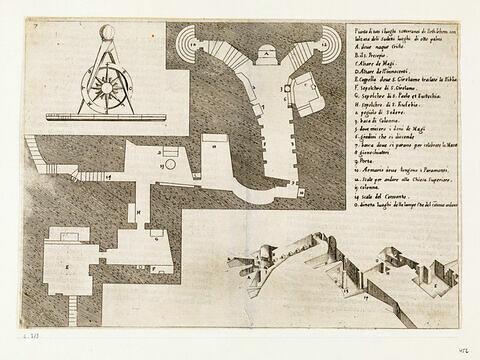 Figures du Voyage en Terre Sainte. Plan des lieux souterrains de Bethléem