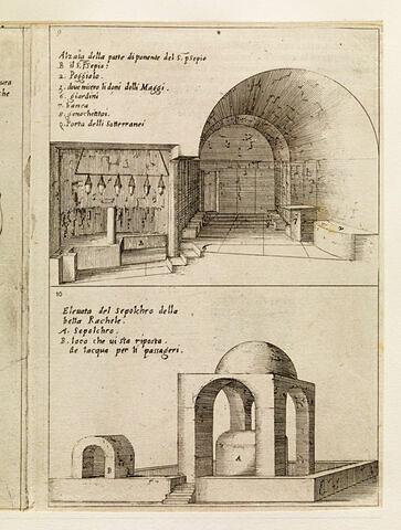 Figures du Voyage en Terre Sainte. Grotte de la Nativité et Tombeau de Rachel