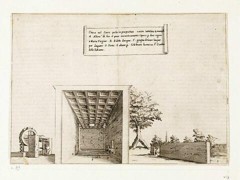 Figures du Voyage en Terre Sainte. Chapelle près du Caire
