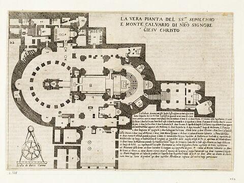 Figures du Voyage en Terre Sainte. Plan de la Basilique du Saint Sépulcre