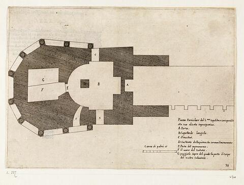 Figures du Voyage en Terre Sainte. Plan de la Basilique du Saint-Sépulcre