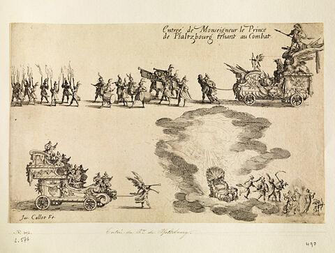 Combat à la Barrière : Entrée du Prince de Pfaltzbourg