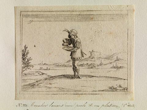 Cavalier lavant une perle sur un plateau