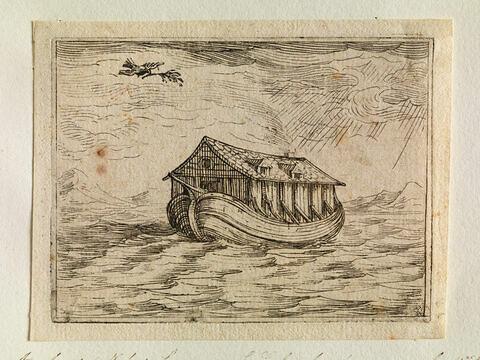 Arche de Noé sur les eaux: la Colombe s'en approche