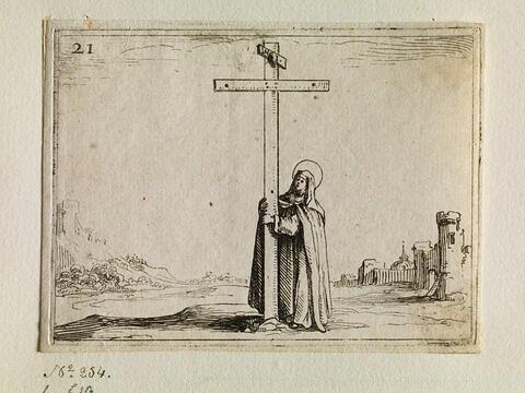 La religieuse tenant la sainte Croix