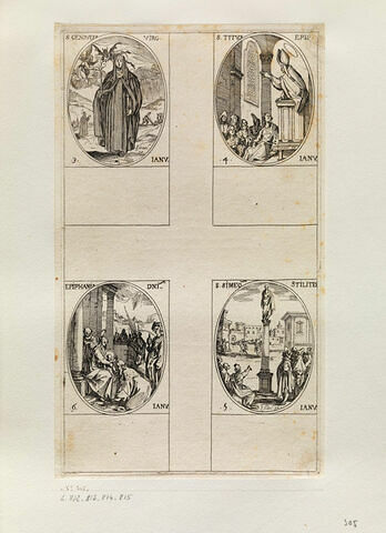 Sainte Geneviève; Saint Tite; Saint Siméon stylite; L'Epiphanie