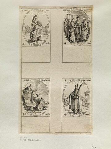 Sainte Agnès; Le mariage de la Sainte Vierge; Saint Ildefonse; Saint Timothée