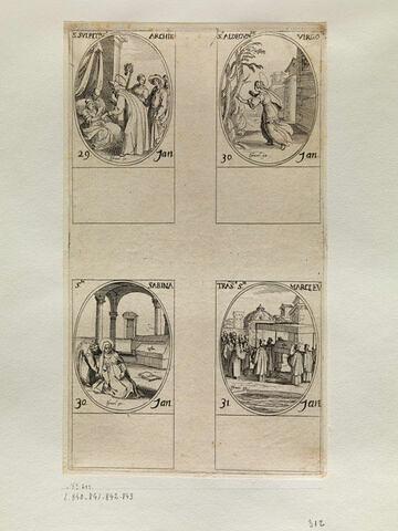 Saint Sulpice; Sainte Aldegonde; Sainte Sabine; La trahison de Saint Marc