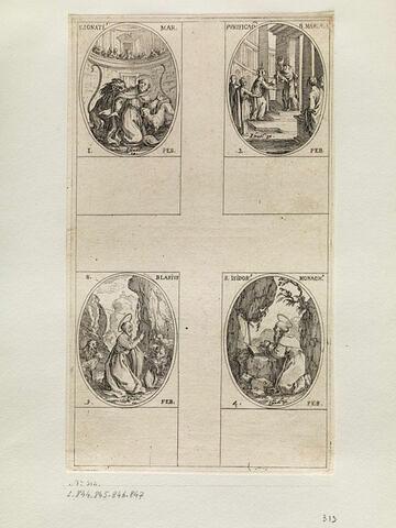 Saint Ignace; La Purification de la Vierge; Saint Blaise; Saint Isidore