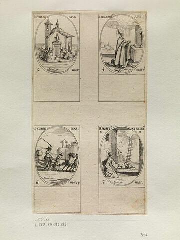Saint Phocas; Saint Théophile; Saint Conon; Sainte Perpétue et Sainte Félicité