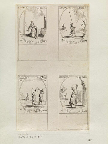 Sainte Mathilde; Saint Longin, Saint Cyriaque, Saint Large et Saint Smaragde; Saint Héribert