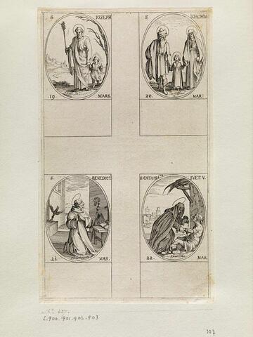 Saint Joseph; Saint Joachim; Saint Benoit; Sainte Catherine de Suède