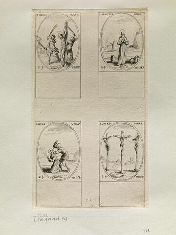 Saint Fidèle; Saint Agapit; Sainte Dule; Saint Dimas