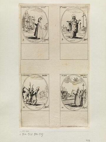 Saint Perpétue; Sainte Marie Cléophée; Saint Ezechiel; Saint Léon le Grand