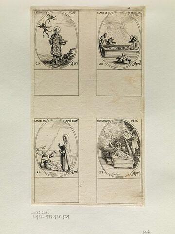 Saint Théodore; Sainte Agnès de Montepulciano; Saint Anselme; Sainte Opportune