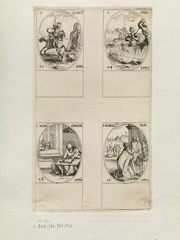 Saint Georges; Saint Saba; Saint Marc; Saint Marcellin