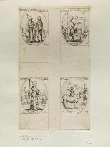 Saint Philippe et Saint Jacques; Saint Athanase; L'invention de la Sainte Croix; Sainte Pélagie