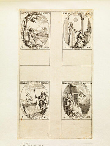 Conversion de saint Agustin; Saint Hilaire; Saint Jean devant la Porte Latine; Saint Damascène