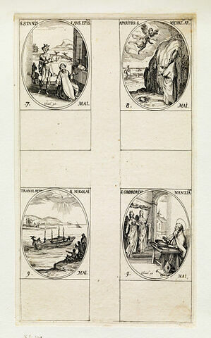 Saint Stanislas; L'apparition de Saint Michel, La translation de Saint Nicolas; Saint Grégoire de Naziance