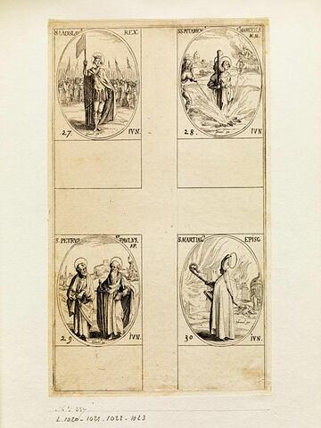 Saint Ladislas; Sainte Potamienne et Sainte Marcelle; Saint Pierre et Saint Paul; Saint Martial