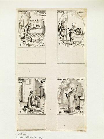 Sainte Donatille; Saint Fabien; Saint Jean Colombin; Saint Ignace de Loyola