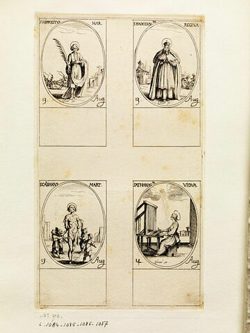 Saint Hippolyte; sainte Radegonde; Saint Cassien; Sainte Athanase