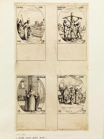 Sainte Aurée; Saint Barthélemy; Saint Louis; Saint Genès