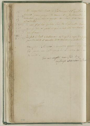 Notes : dettes d'Augustin à Callamard, sculpteur
