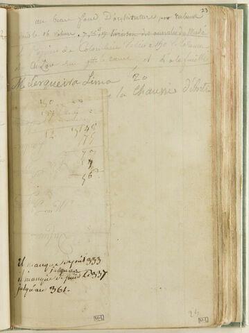 Notes : adresses et mentions d'ouvrages et de papier